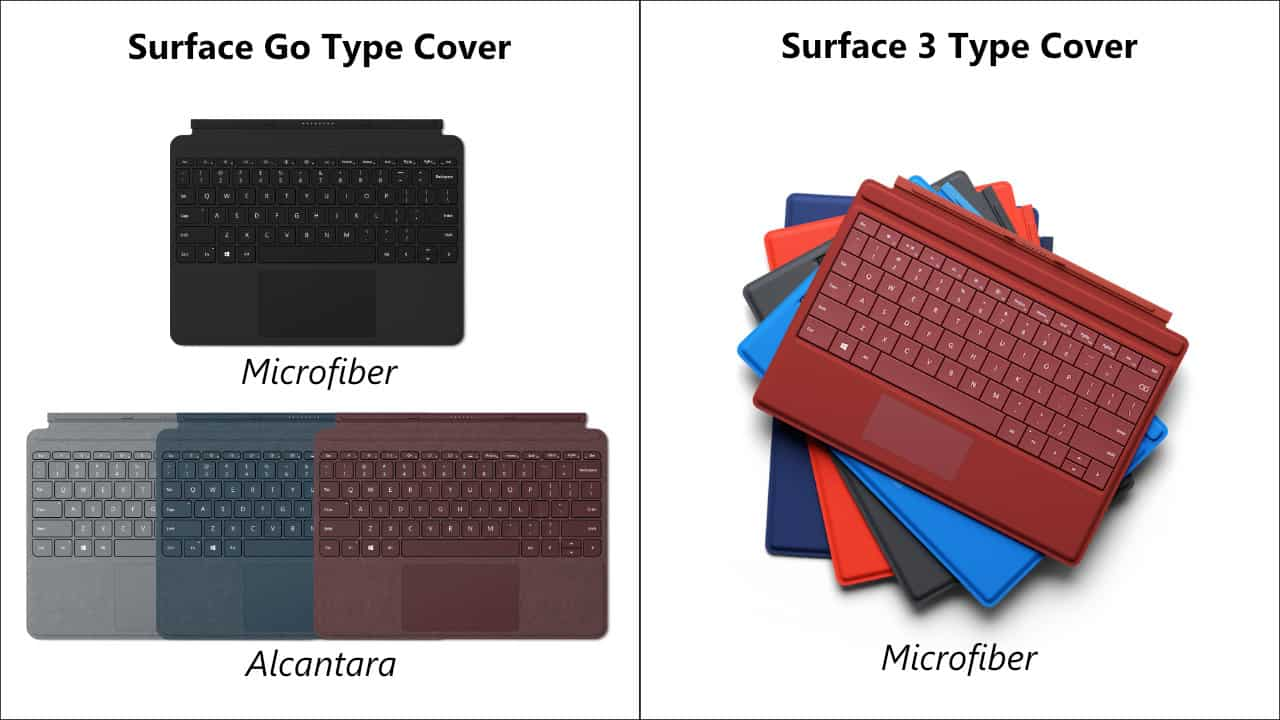 Surface Go Type Cover và Surface 3 Type Cover